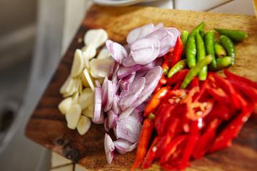 Preparing ingredient to cook