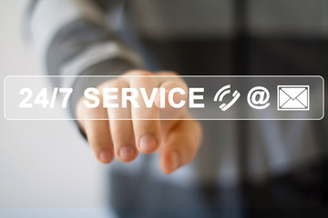 Business button web 24 hours service icon
