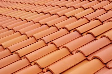 Obraz New roof with ceramic tiles - fototapety do salonu