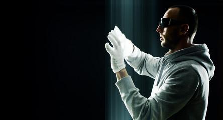 Futuristic internet hacker cybercrime
