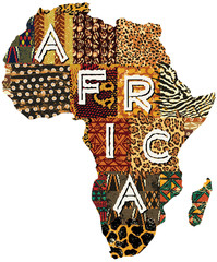 Africa patchwork vector map
