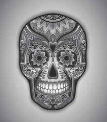Print mexican traditional scull for T-shirt