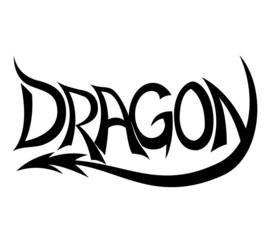 Vector sign. Dragon.