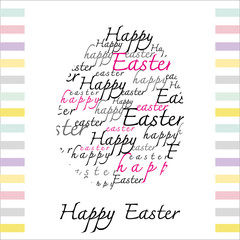 Happy Easter Typography White background