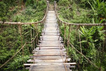 The hanging bridge horizontal