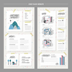 childlike one page website design template