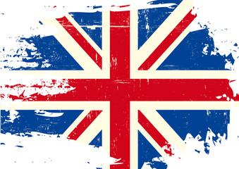 Scratched UK Flag