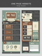 theater concept one page website design template