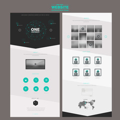 fashionable one page website design template