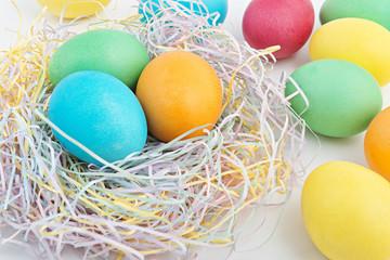 Easter eggs background