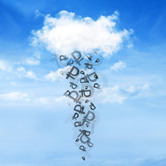 Cloud and money rain