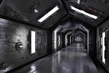 Ciemny statek kosmiczny 3D