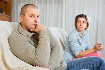 Couple quarrel at home