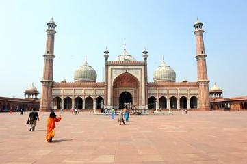 Autocollant pour porte Delhi Jama Masjid Moschee in Delhi, Indien