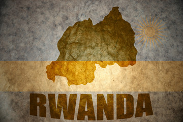 rwanda vintage map