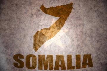 somalia vintage map