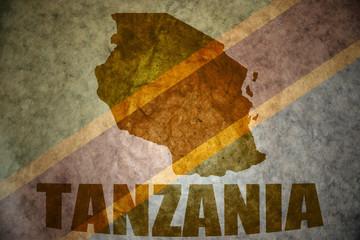 tanzania vintage map