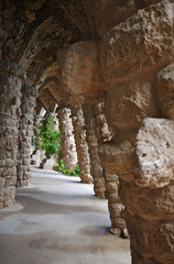 Stone Gallery Park Guell