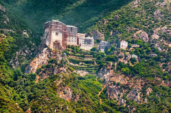 Mt. Athos, Greece, Holy Monastery of Simonos Petra (Simonopetra)