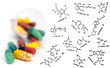 Vitamin supplement pills and chemical formulae