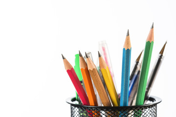 Back to school. Colorful pencils.