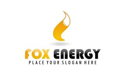 fox tail energy logo vector