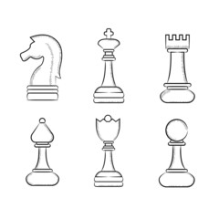 sketch chess icons