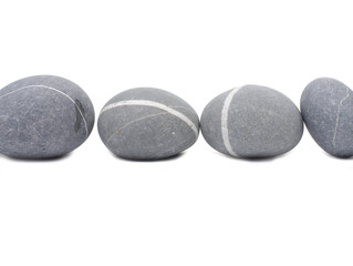 A set of sea gray and striped stones