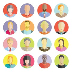 people icons, set of avatar