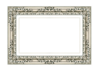 antique picture frame isolated on white background