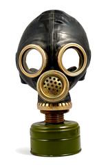 Worn Gas Mask
