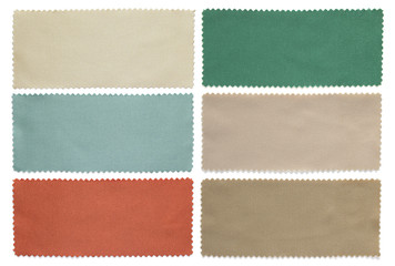 set of fabric swatch samples texture