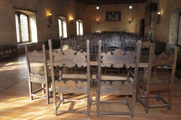 Sedie antiche della sala d'arme del Castello, Gorizia
