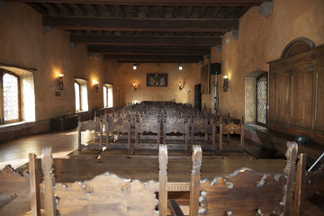 La sala d'arme del Castello di Gorizia