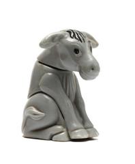 old donkey figurine isolated on white