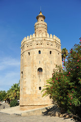 The Gold Tower, Seville, Andalusia, Spain