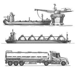 petroleum extraction vector logo design template. oil or