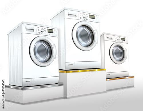 waschmaschine waschvollautomat auf siegerpodest freigestellt stockfotos und lizenzfreie. Black Bedroom Furniture Sets. Home Design Ideas