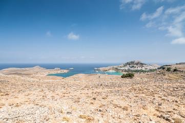 rodos wyspa panorama wysepki błękit