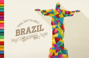Travel Brazil landmark polygonal monument