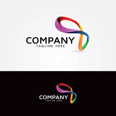 Infinity Colorfull StartUp Logo Design Concept