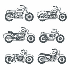 Motorcycle Icons set