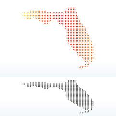 Map of USA Florida State with Dot Pattern