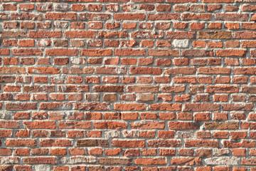 In de dag Baksteen muur old bricks stone wall in various colors