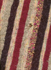 Knitted Stripes Background with a hole
