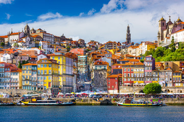 Porto, Portugal Old City Skyline on the Douro River Fototapete