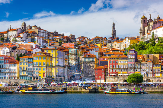 Porto, Portugal Old City Skyline on the Douro River