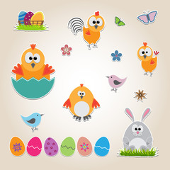 Easter set of stickers