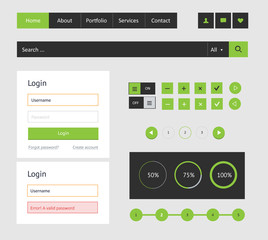 Vector elements user interface