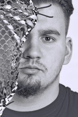 Lacrosse Player Portrait Closeup